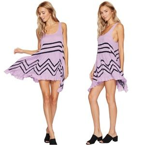 Free People Voile Lilac Trapeze Lace Slip Dress