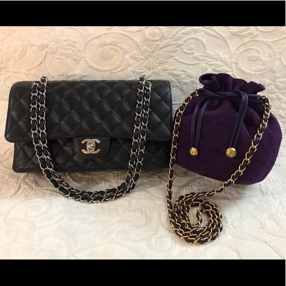128d2146f3b CHANEL Bags | Medium Flap Black Rare Mini Drawstring | Poshmark
