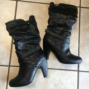Perfect Condition Studded Slouch Boots
