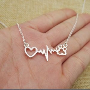 Jewelry - 💕Sale! 🐶😺 Cute paw/pulse/heart necklace!