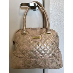 Icing Light Pink & Gold Quilted Handbag