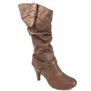 Bamboo brown high heel boots