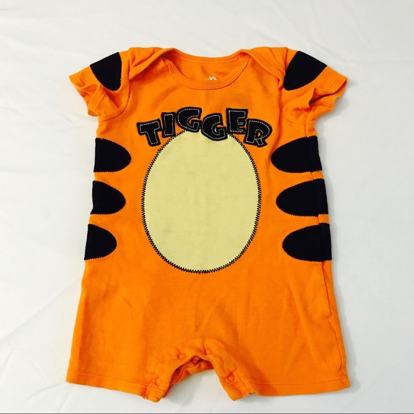 disney tigger orange romper halloween costume 9m
