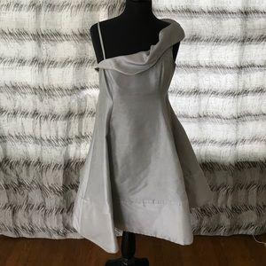Emporio Armani silver evening dress