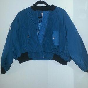 Short blue comfy coat/jacket