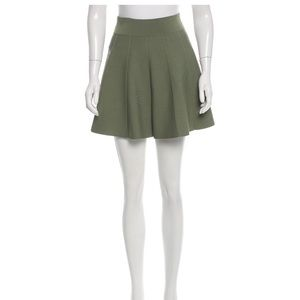 A.L.C. Green Knit Mini Skirt- Small