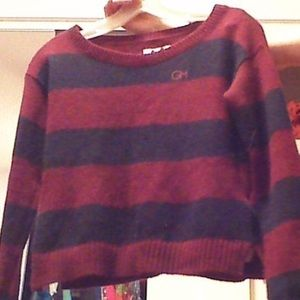 Gilly Hicks NWT burgundy and Navy sweater