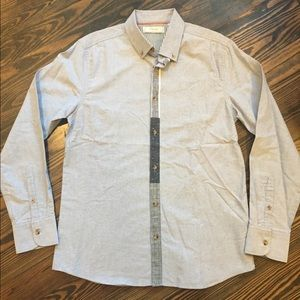 NWOT Five Four Button Down Shirt, Blue, Sz. Medium