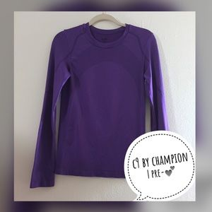C9 BY CHAMPION Purple Long Sleeve Workout Top - M