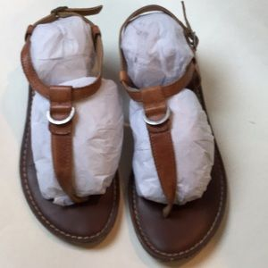 Natural leather sandal
