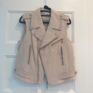 Rebecca Minkoff blush leather Moto vest BNWOT