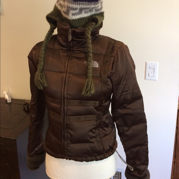 959769f98 The North Face brown goose down puffer jacket 600