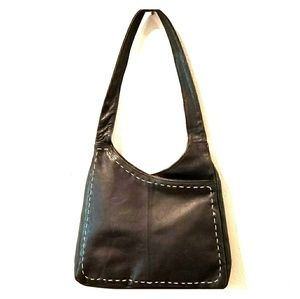 Handbags - Black Leather Shoulder Bag!