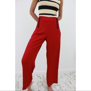 Pants - Double Corset Red Pants🎉SOLD🎉