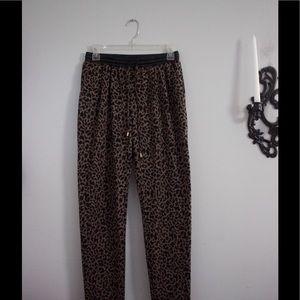 Leopard print sweatpants, size small