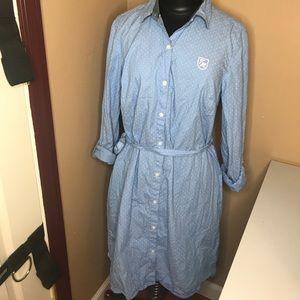Tommy Hilfiger polka dot long sleeved fall dress
