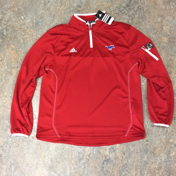 58c3dbc41 adidas Jackets & Coats | Smu Mustangs Mens Pullover Jacket Large ...