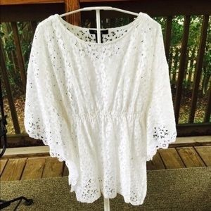 Tops - NEW White Lace Blouse!