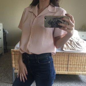 Vintage Pink Button Down