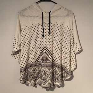 Sweaters - Hooded shaw cover up