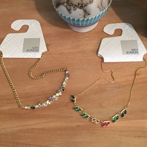 NWT 2-pc Bundle Quality Crystal Choker & Necklace