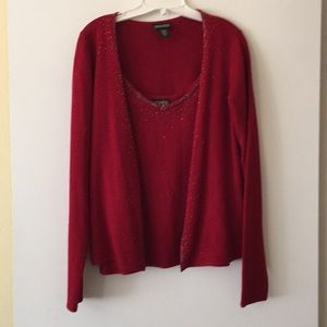 Sweaters - Red twin set