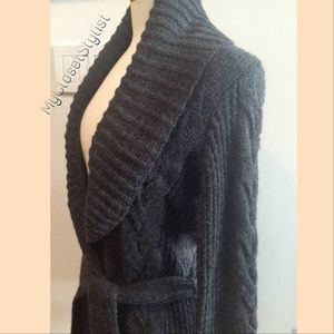 LAUNDRY NWT $645  ALPACA Belted Sweater Jacket!! S