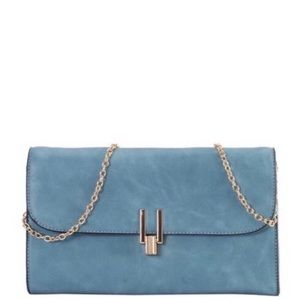 Handbags - Blue Envelope Clutch