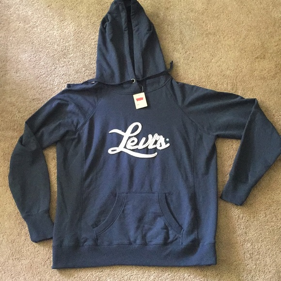 Levi Co Blue Strauss Poshmark Hoodie Navy Nwt amp; Tops Levis r0wrnT1qE6