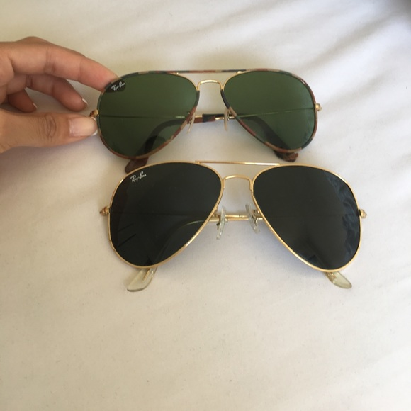 d6da921aa089 Ray-Ban Accessories | 2 Pairs Of Ray Ban Aviators Size 62 And 58 ...