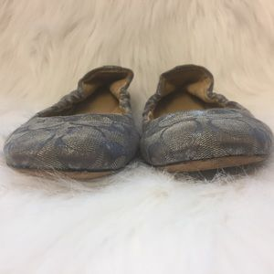 Coach Shoes - COACH Silver Monogram ballet flats size 6.5