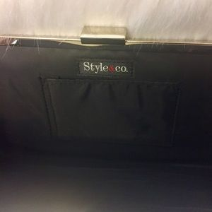 Style & Co Bags - Style & Co. Black Leather Clutch in Black