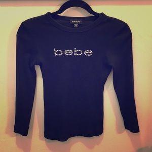Bebe long sleeve black shirt!