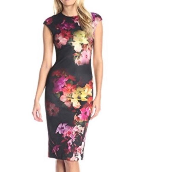4d7f698e6e60e Ted Baker Catina Cascading floral dress 🌸🌺. M 59b02bb12de512bc66042d11
