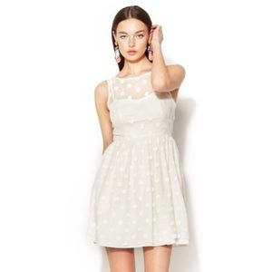 NWT Jill Stuart Ivory Polka Dot Dress