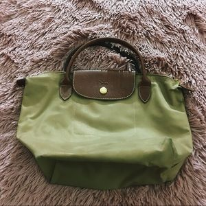 Longchamp Handbag Small Nylon Tan Tote Purse