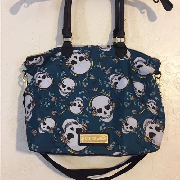da045bfa5d6 Betsey Johnson Bags   Handbag Satchel Headphones Dj Skull   Poshmark
