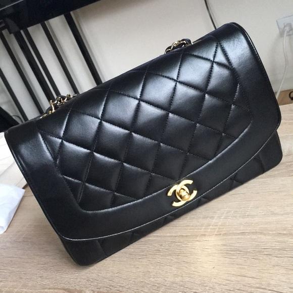 02d058386dc5 CHANEL Handbags - Authentic Chanel Vintage Diana Flap 25cm