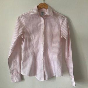 New women's pink stripe shirt Brooks Brothers