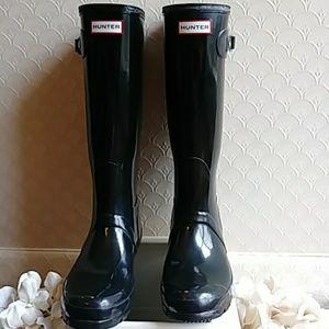 Hunter Original Gloss Tall Rain Boots - Black