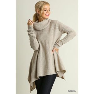 LAST ONE!! Cowl Neck Sweater-Oatmeal