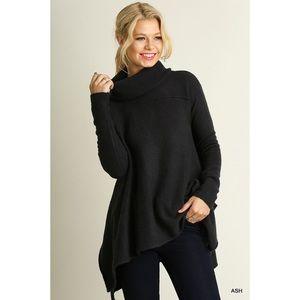 Cowl Neck Sweater-ASH