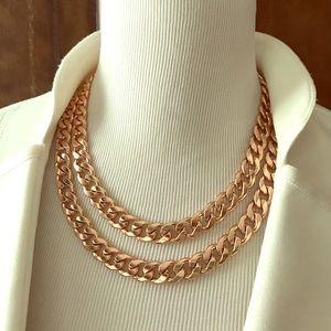 Rose Gold Fashion Necklace
