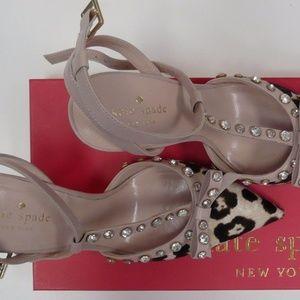 a0b6cf0c2cd3 kate spade Shoes - NIB! KATE SPADE Lydia Leopard T Strap High Heel