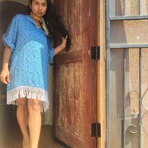 Kaftan Style Mini Dress