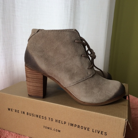 d3420b39b Toms Shoes | Lunata Lace Up Booties | Poshmark