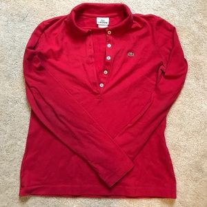 Lacoste Red Long Sleeved Women's Shirt