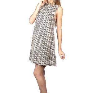 ❤BOGO Chevron Printed A-Line Dress