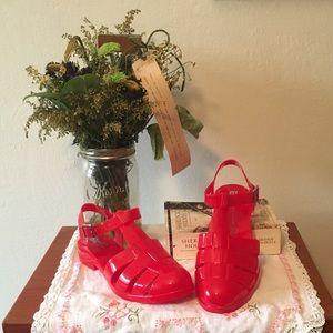 BC Wild Child Red Jelly Sandals
