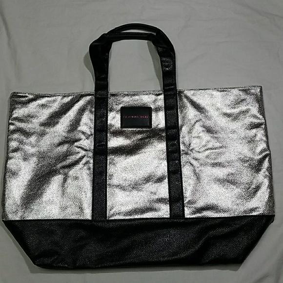 7a17202e8df99 VS Victoria's Secret Large Silver and Black Bag